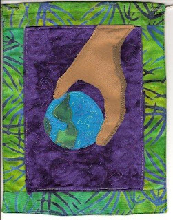 Bhavana Project prayer flag, 2008 by Asya Lesly