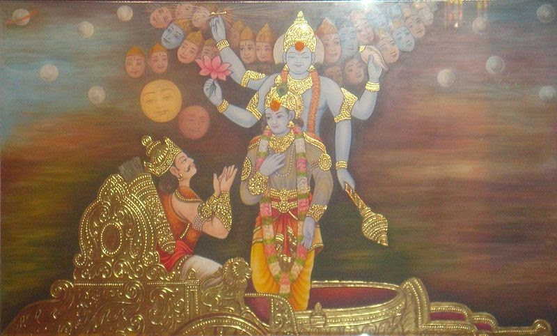bhagavad gita relationship between krishna and arjuna picture