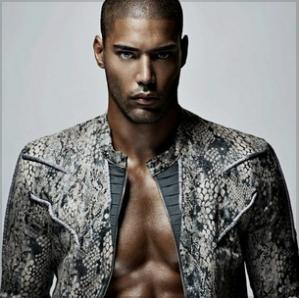 willy monfret black male model snakeskin mens jacket