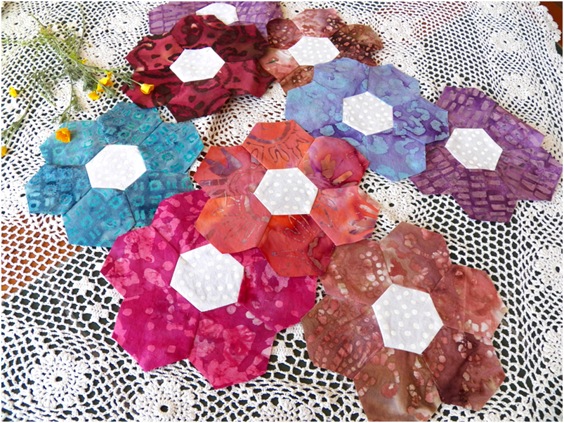 Art threads wednesday sewing grandmother 39 s flower - Grandmother s flower garden quilt ...