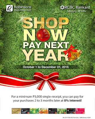 RCBC Bankard: Robinsons Department Store – Shop Now Pay Next Year