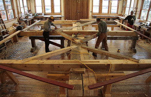 peter henrikson has taught timber framing at north house for 17 years in timber frame talk hes a king post of the program