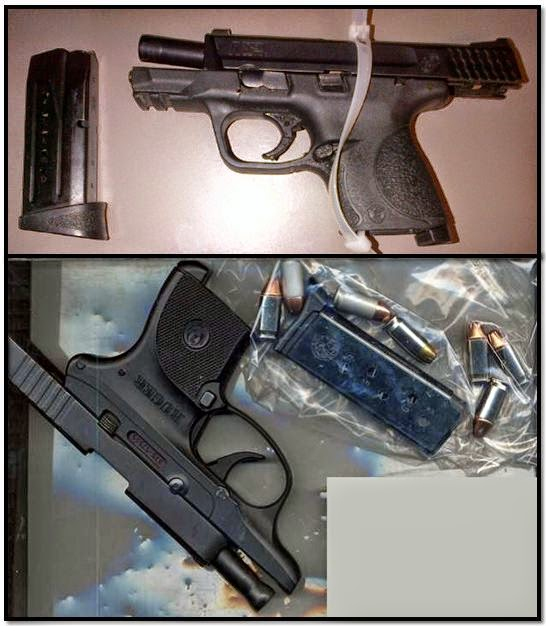 Top to bottom, firearms discovered at: ABQ & BNA