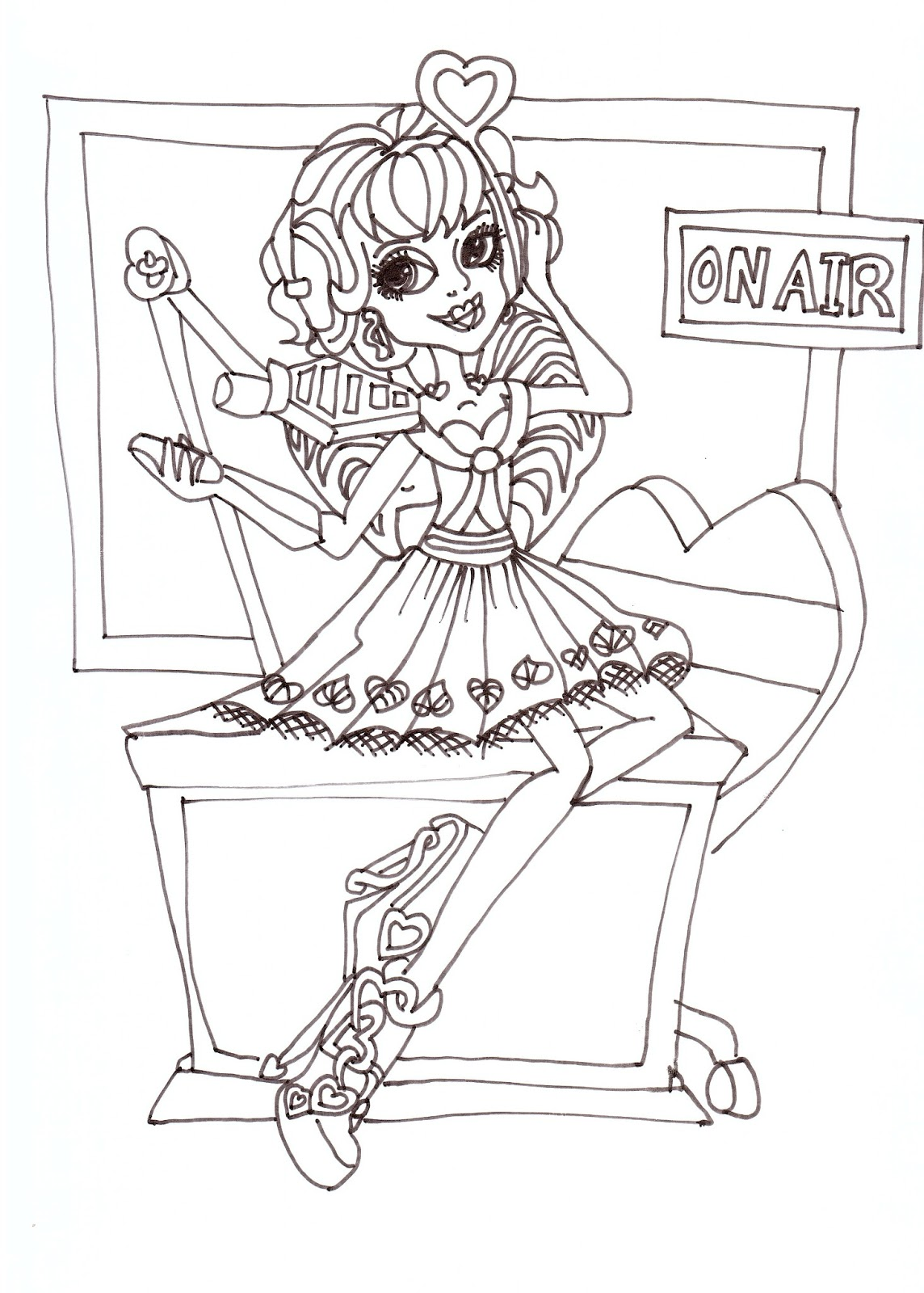 Free Printable Monster High Coloring Pages: C.A. Cupid Coloring Sheet