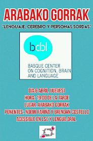"""""""LENGUAJE, CEREBRO Y PERSONAS SORDAS"""" // JUEVES, 6 DE ABRIL"""