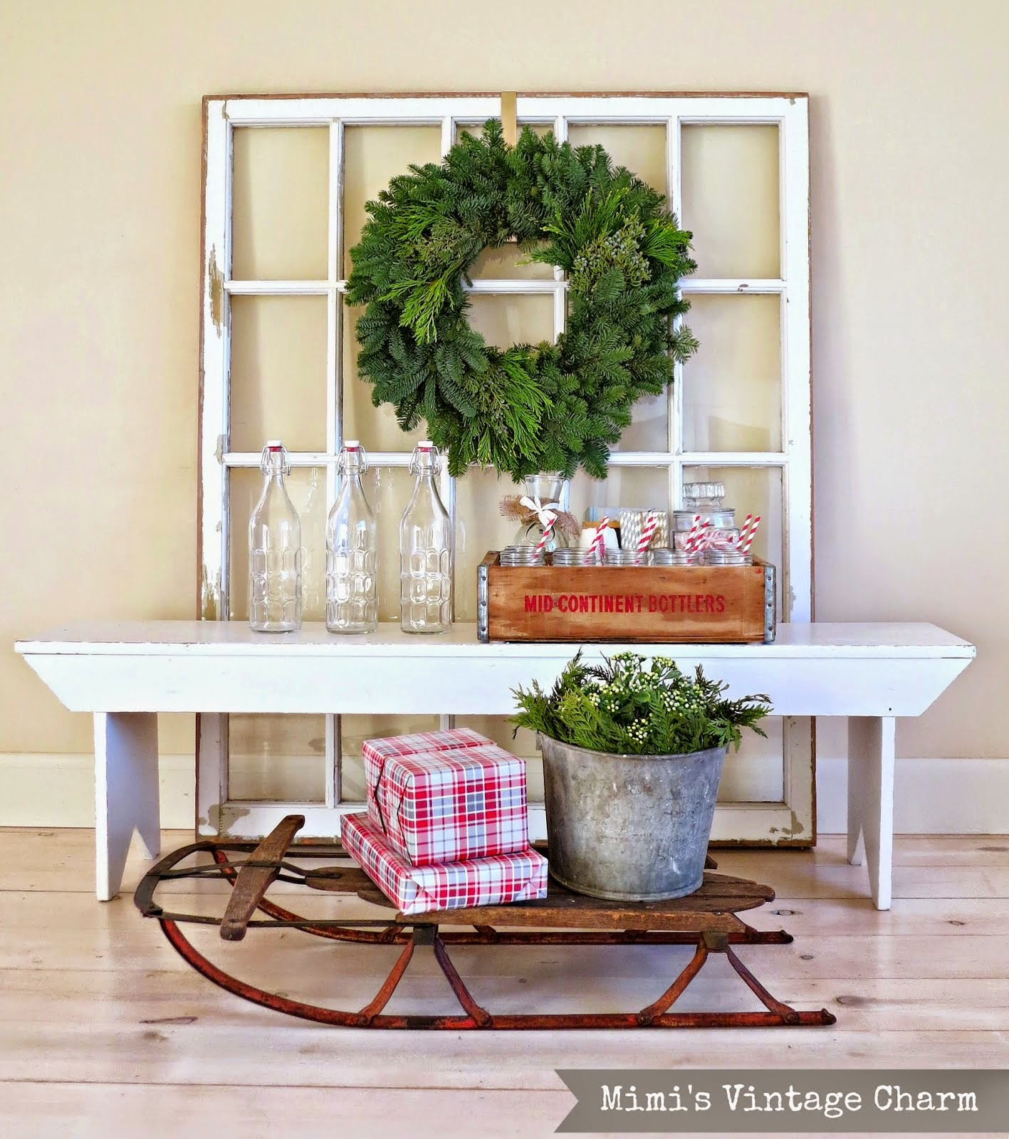 More christmas ideas from the vintage inspiration party for Urban farmhouse creations