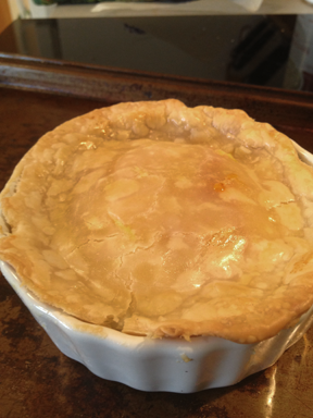 Spring Brunch Mini Pie righ out of the oven
