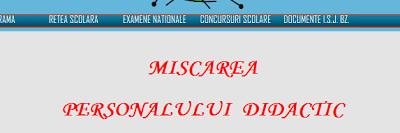 sectiunea titularizare de pe site-ul isj buzau