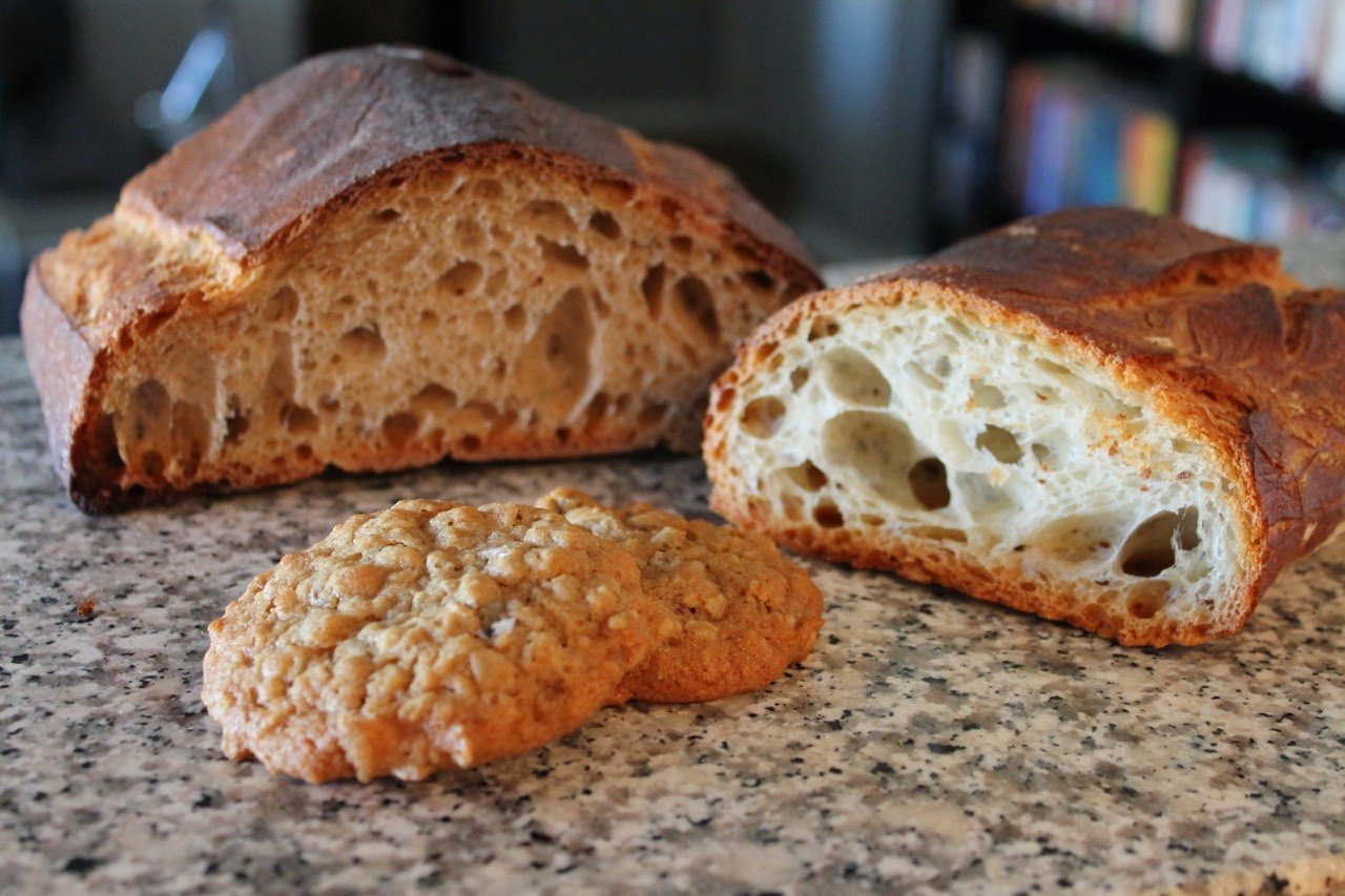 Bread Furst levain, palladin breads and oatmeal cookies