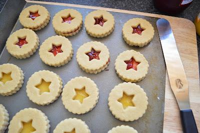Lemon Raspberry Fondant Cookies