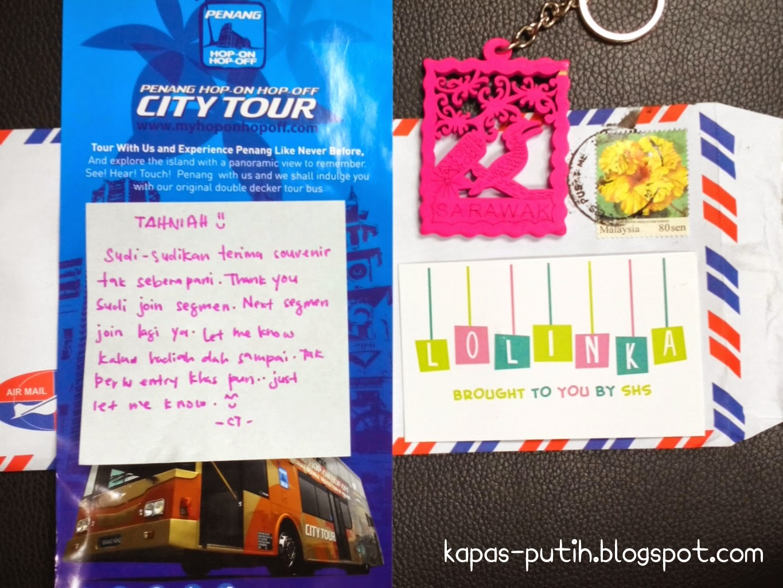 Dah dapat Keychain Sarawak's Shopping Hauls Giveaway by Siti Yang Menaip