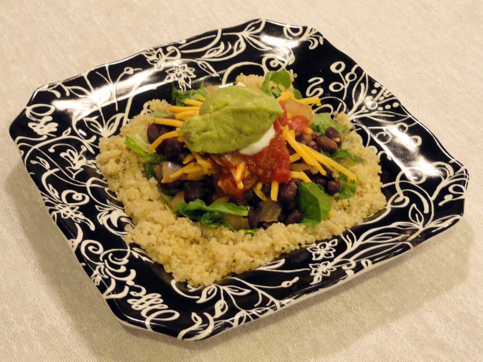 As Good As Gluten: Quinoa Black Bean Burrito Bowl