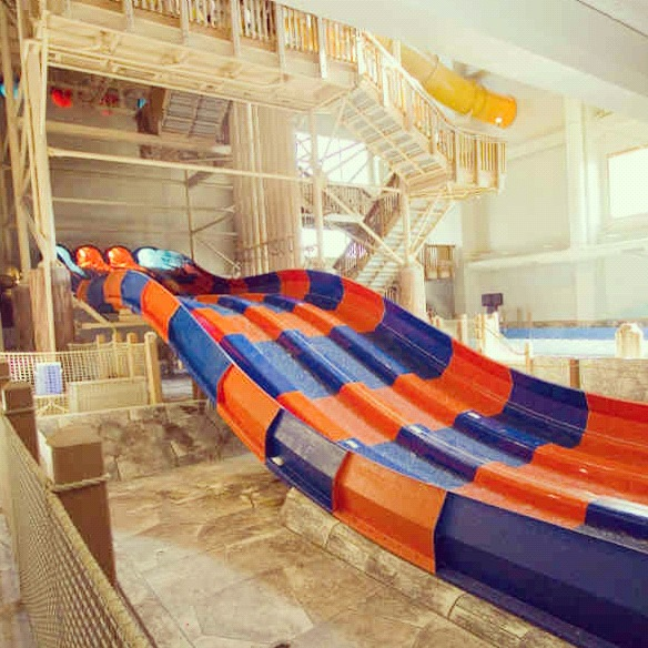 Bunk Bed With Swirly Slide Water Slide That Dumps You