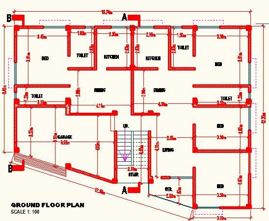 Floor Front Elevation Autocad : Autocad details of a house portfolio website