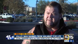 Man banned from walmart