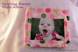 Receiving blanket photo album