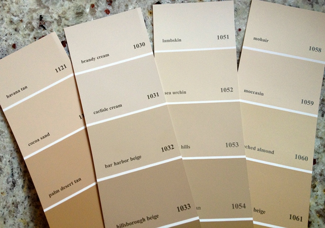 Then we went to Home Depot and collected some Behr paint chips (ignore