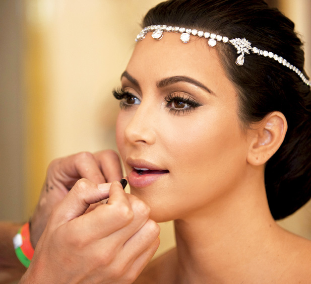 Wedding Makeup Tutorial : Fashion Beauty Glamour: Kim Kardashians wedding makeup ...