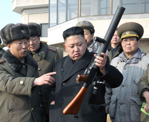 Peluncur granat Korea Utara