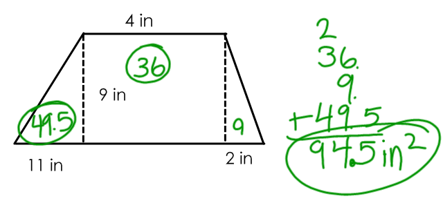 Miss Kahrimaniss Blog Trapezoid areas – Area of Trapezoid Worksheet