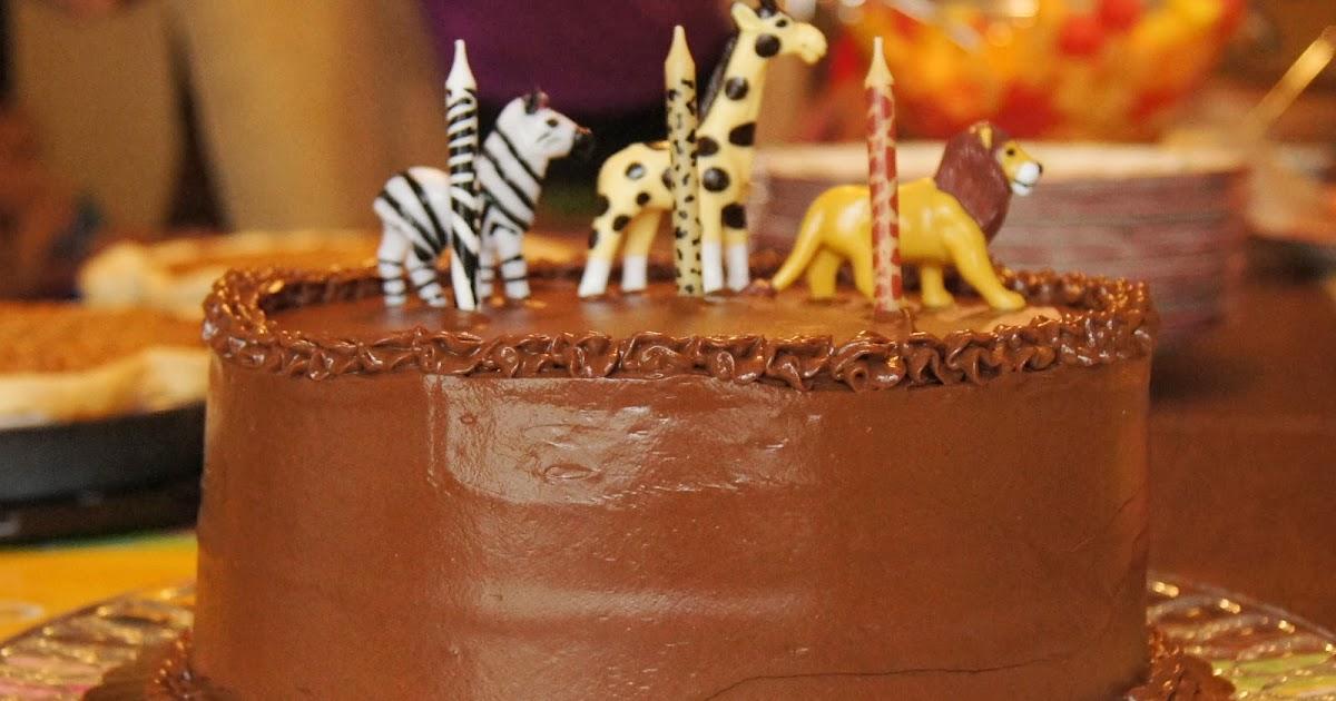 Yellow Birthday Cake With Fluffy Chocolate Ganache ...