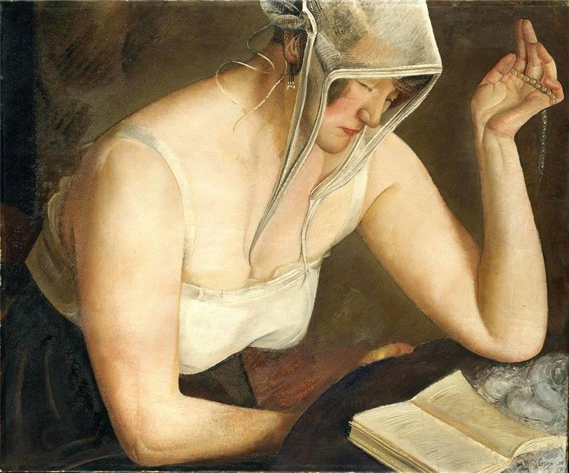 Boris Grigoriev. Lectura mujer, 1922
