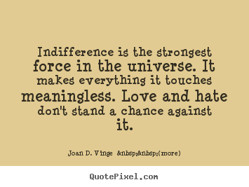Love turning to indifference