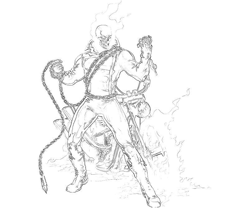 Free Coloring Pages Of Ghost Rider Ghost Rider Coloring Pages