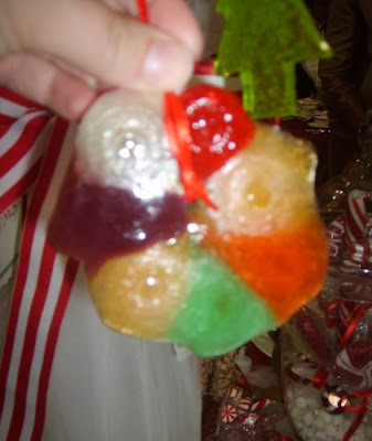 Melted candy ornaments 2