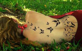 Hot Girl on Grass