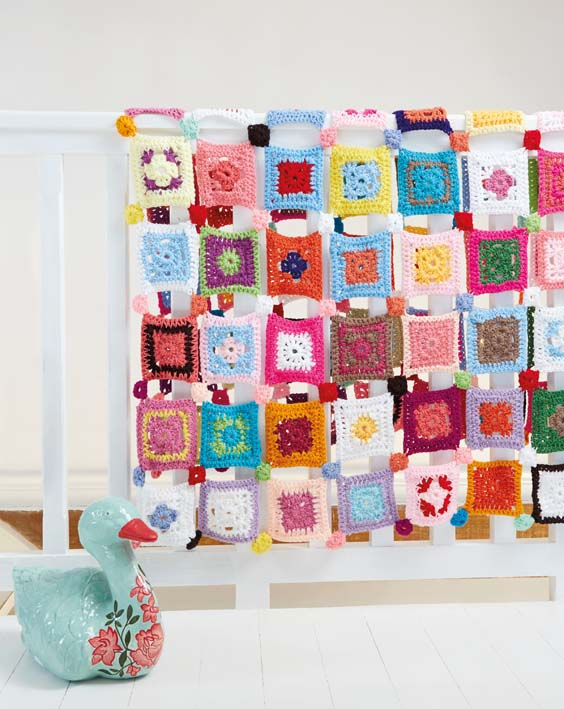 Crochet Patchwork Blanket   I love this pattern by Ideas Magazine  Mother S Mom The For The Love Of Crochet Magazine