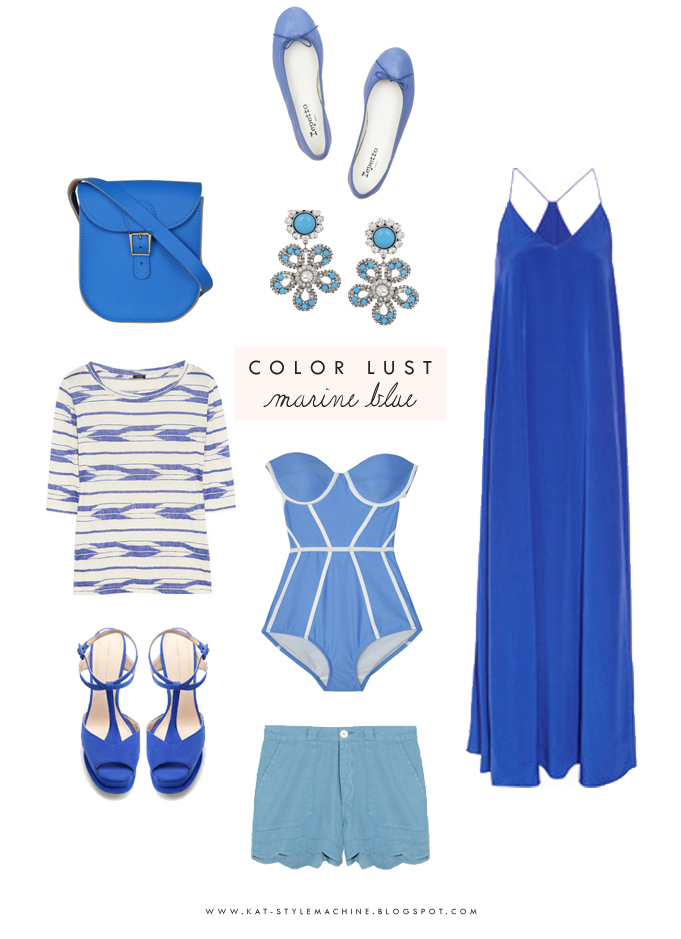 deep cobalt blue fashion finds for spring