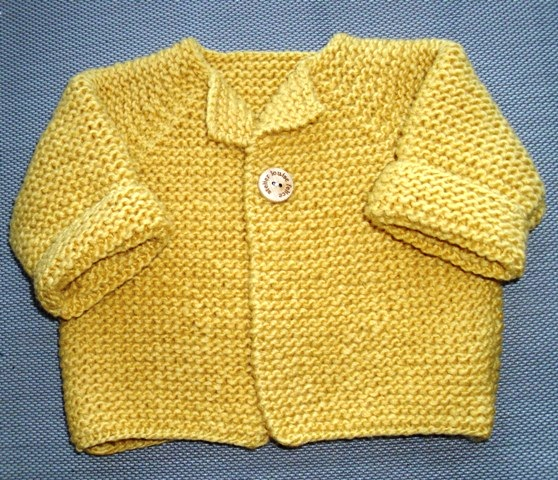 Knitting Pattern Baby Cardigan Newborn : Louise Knits: Hand Knitted Baby Cardigan Pattern