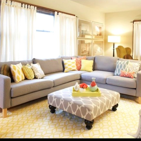 Pinterest Yellow and Gray Living Room