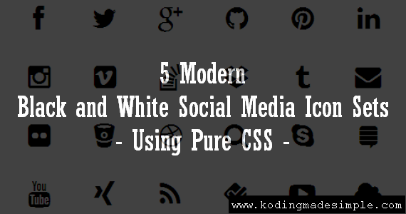 free-black-and-white-social-media-icons-html-css