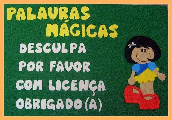 Excepcional Ensinando com Carinho: Palavras Mágicas em EVA VJ07