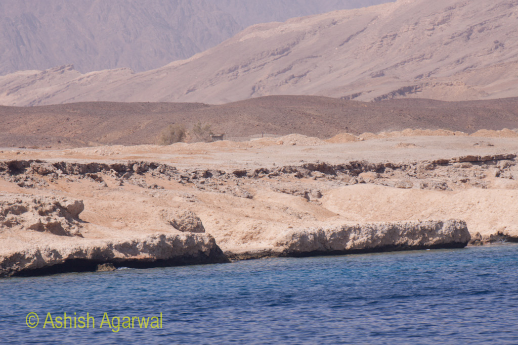 The shoreline in the Ras Muhammed marine park near Sharm el Sheikh