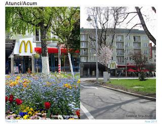 Piata Trandafirilor, Tirgu-Mures - Then and Now