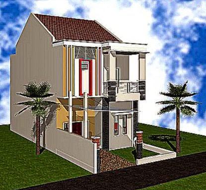 desain rumah lantai 2 bagian belakang  Gambar Rumah Minimalis