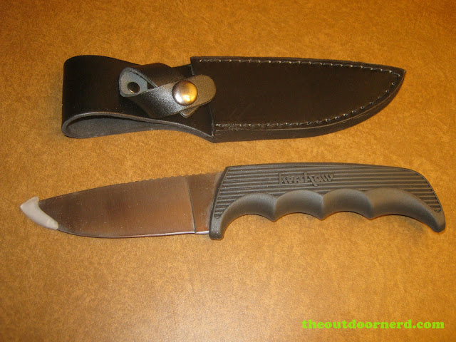 Kershaw Bear Hunter II knife and sheath out of packaging
