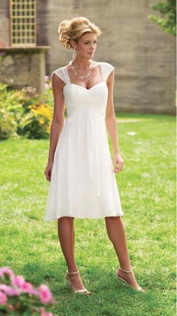 2012 Petite Tea Length Wedding Dresses