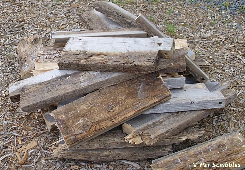 yucky termite-eaten cedar wood!