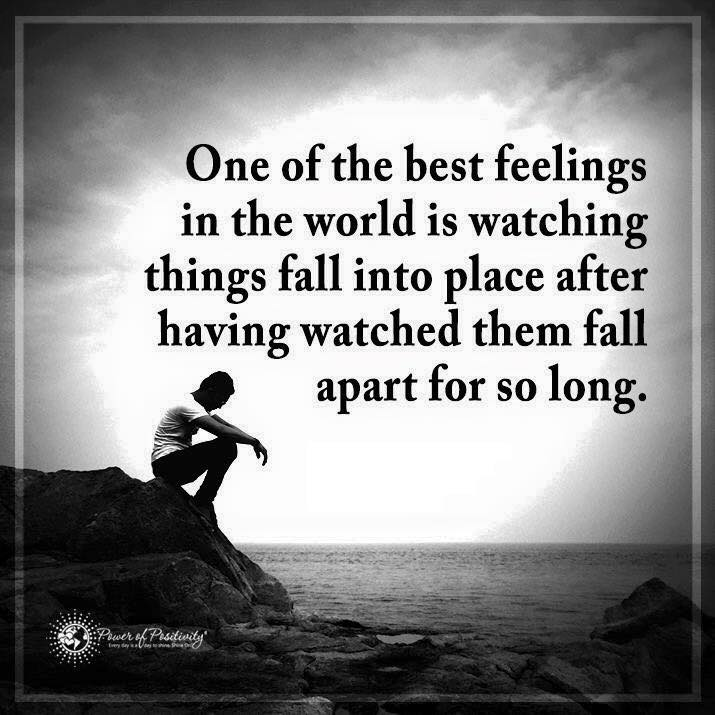 One of the best feelings in the world is watching things ... Things Fall Apart Quotes