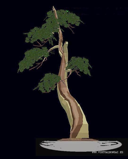 Modelo 3D de bonsái creado con el software de diseño virtualBonsai