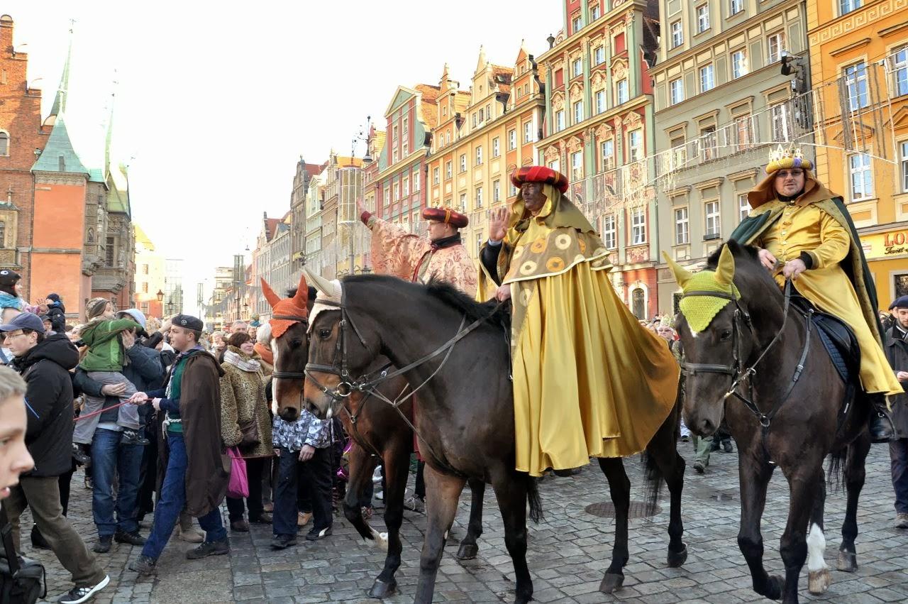 Trzej Królowe na wrocławskim rynku