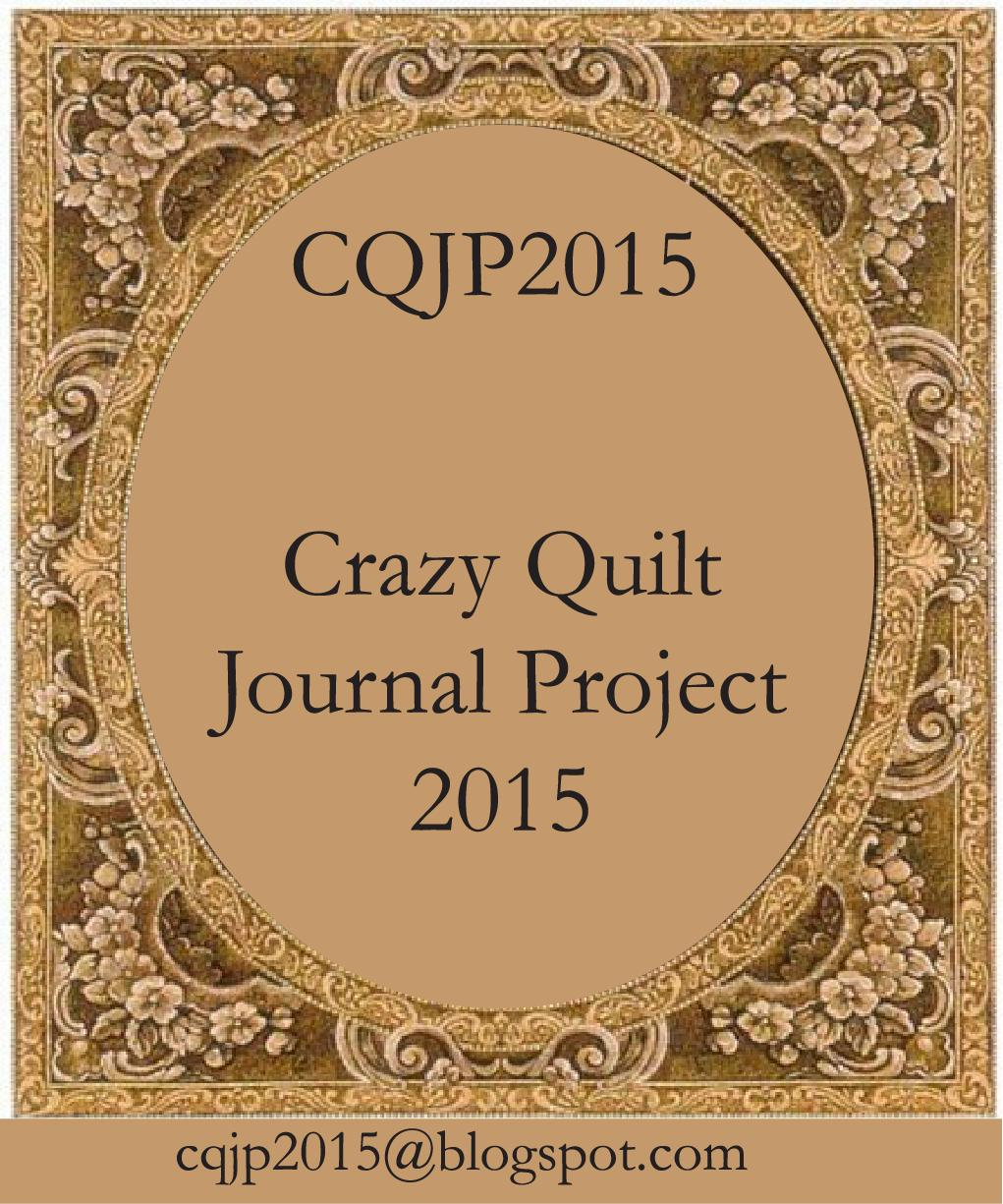 2015 Crazy Quilt Journal Project