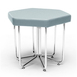 OFM Hex Stool in Aqua