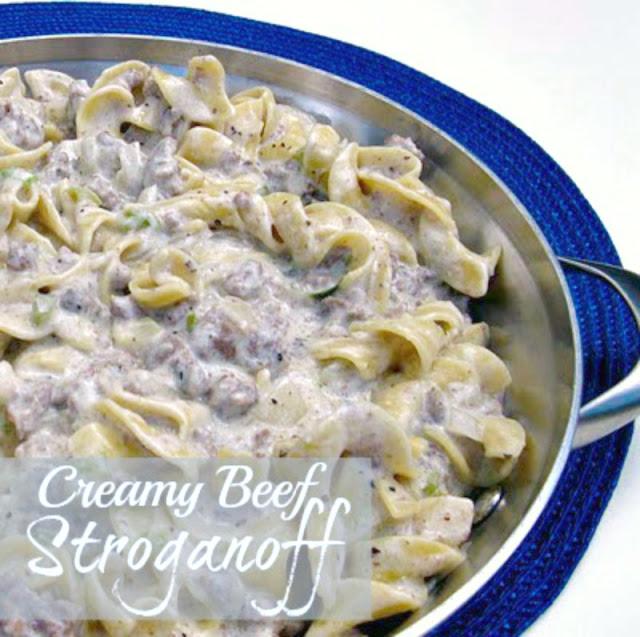Creamy Beef Stroganoff