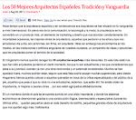 LOS 50 MEJORES ARQUITECTOS ESPAÑOLES. TRADICION Y VANGUARDIA
