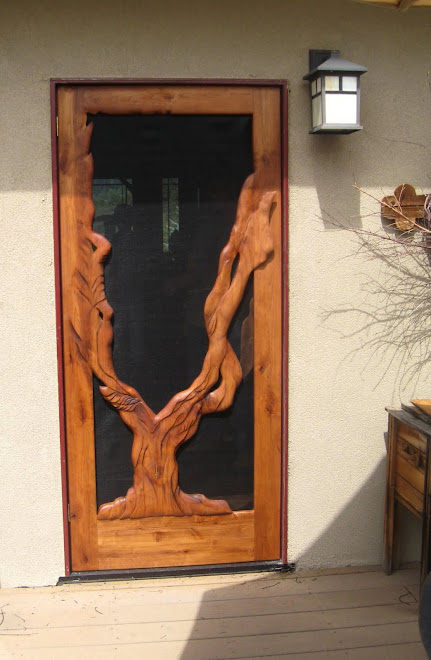 Eagle Tree, alder wood screen door